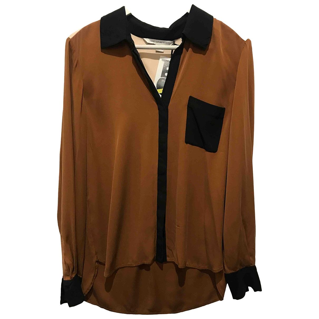 Diane Von Furstenberg - Top   pour femme en soie - marron