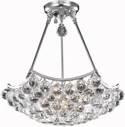 V9802D18C/RC 9802 Corona Collection Pendant Ceiling Light D:18In H:16In Lt:3 Chrome Finish (Royal Cut