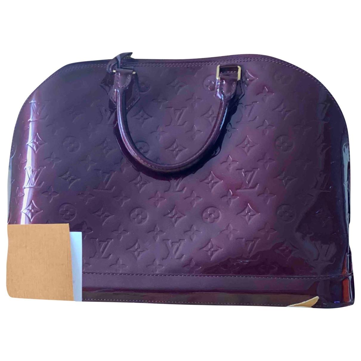 Louis Vuitton Alma Handtasche in  Rot Lackleder