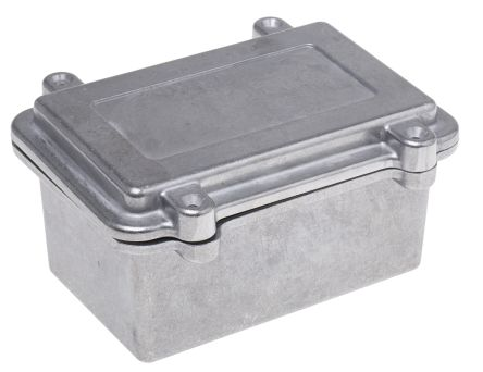 RS PRO Natural Die Cast Aluminium Enclosure, IP67, Shielded, 150 x 100 x 75mm