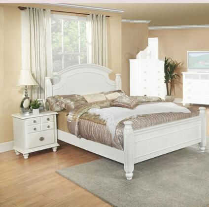 G5975A-TBEDROOMSET 2-Piece Bedroom Set with Twin Size Bed + Single Nightstand  in
