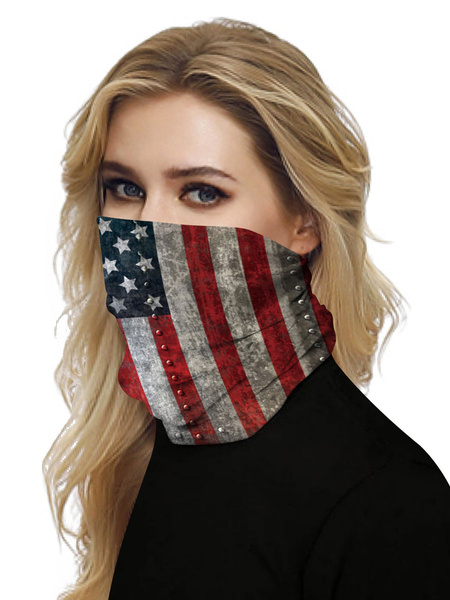 Milanoo Seamless Face Veil Mouth Cover 4th Of July Bandanas