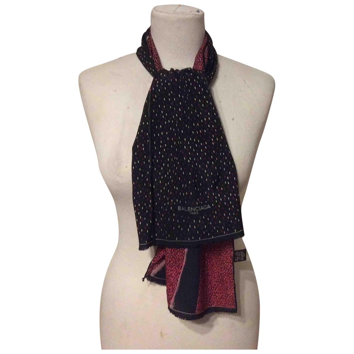 Balenciaga - Foulard   pour femme en soie - marron