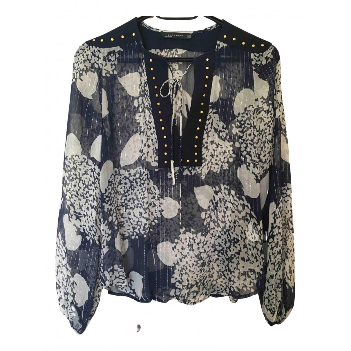 Zara \N Multicolour Silk  top for Women XS International