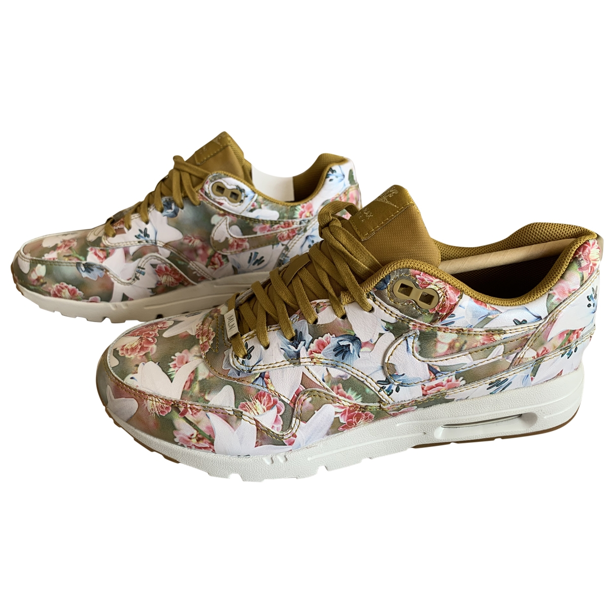 Nike - Baskets Air Max 1 pour femme en cuir - multicolore