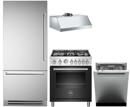 4 Piece Kitchen Appliances Package with REF36PIXL 36