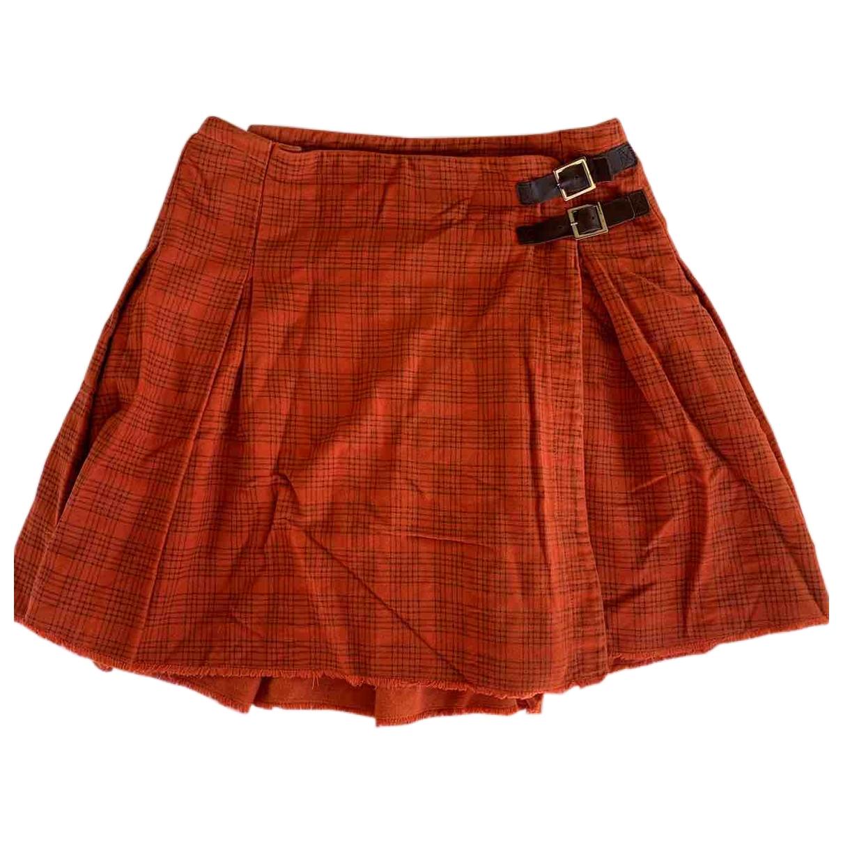 Simonetta - Jupe   pour enfant en coton - orange