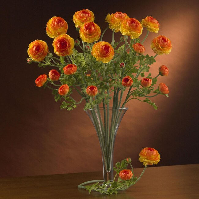 Artificial Ranunculus Stems (Set of 12) (Yellow)