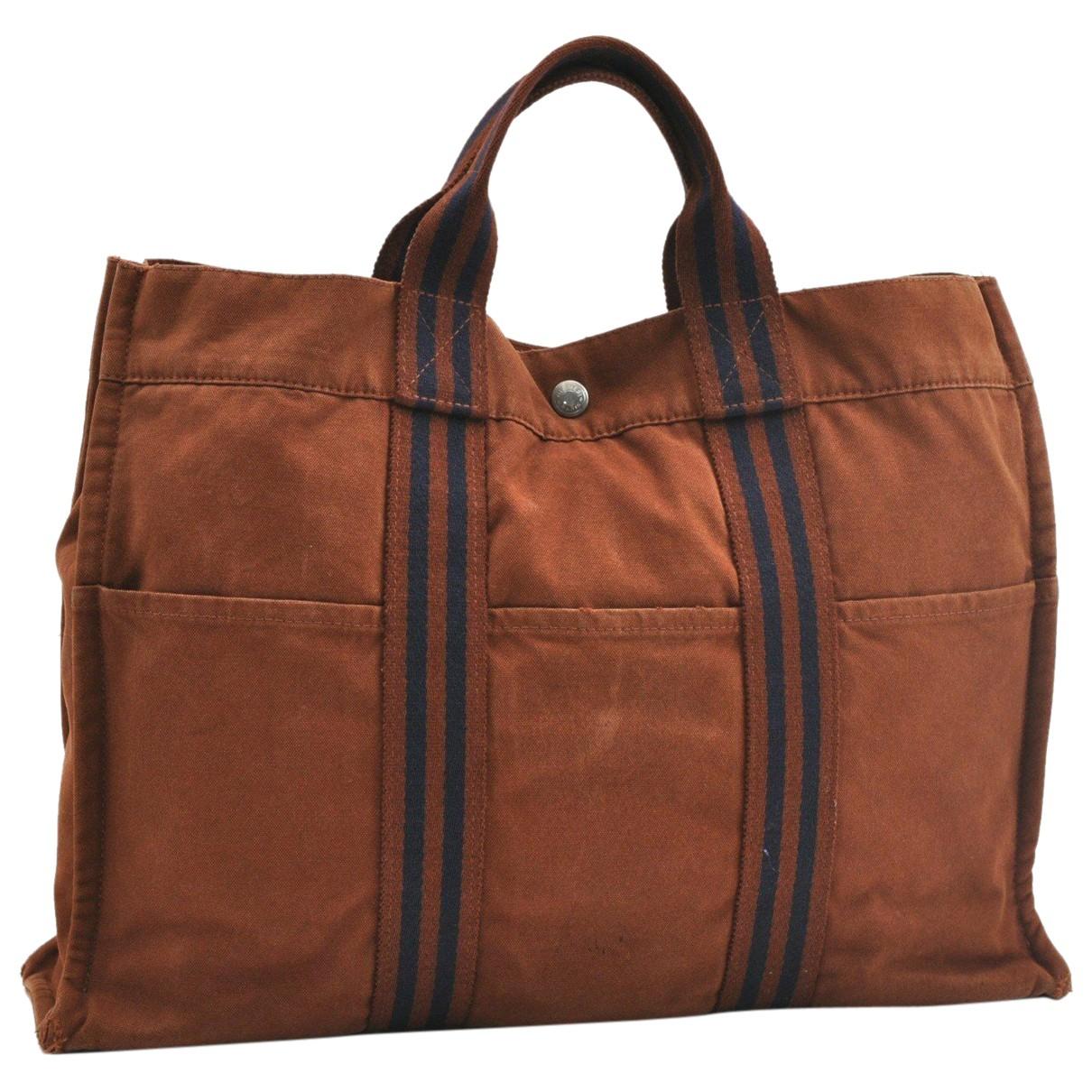 Hermès N Brown Cloth handbag for Women N