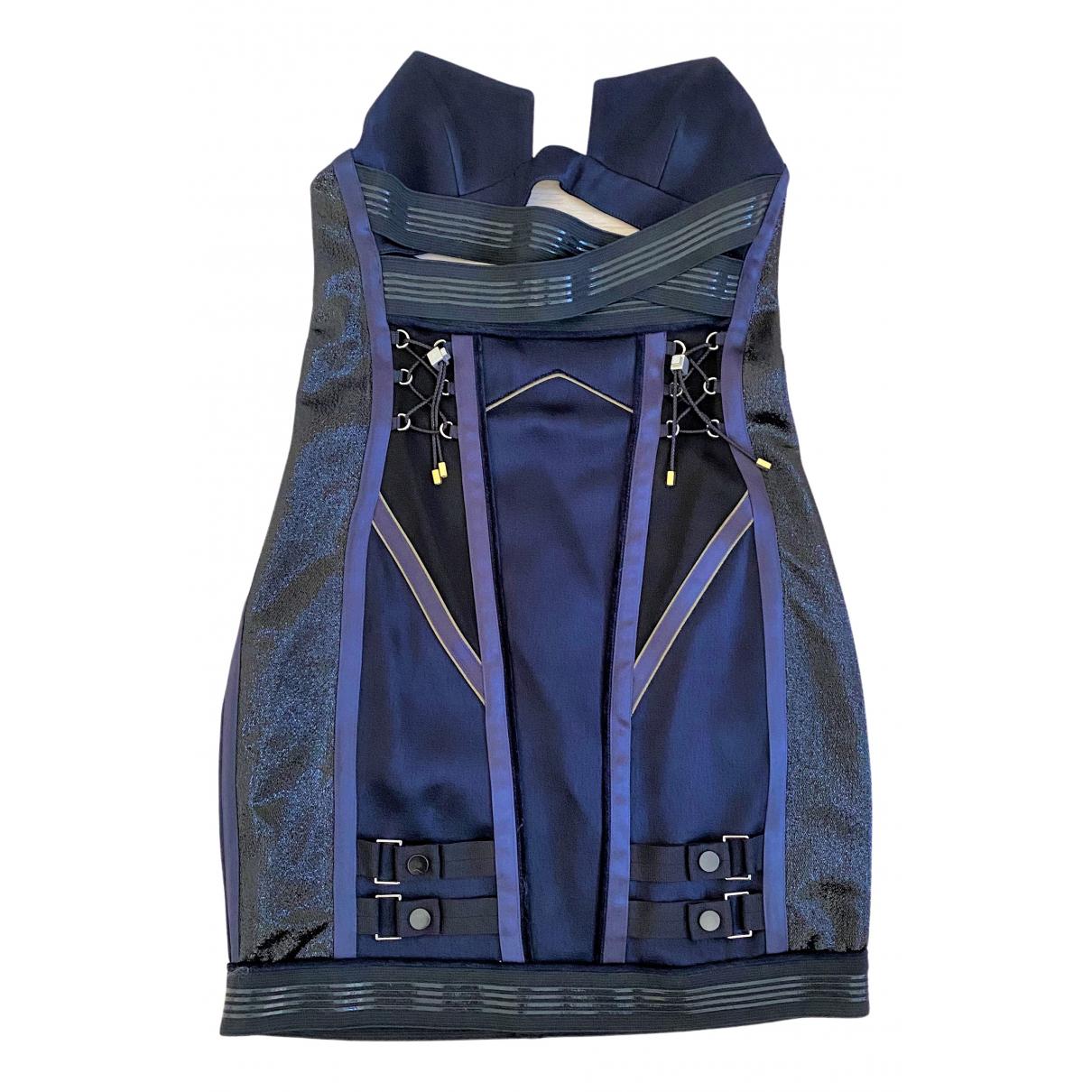 Anthony Vaccarello - Robe   pour femme - bleu