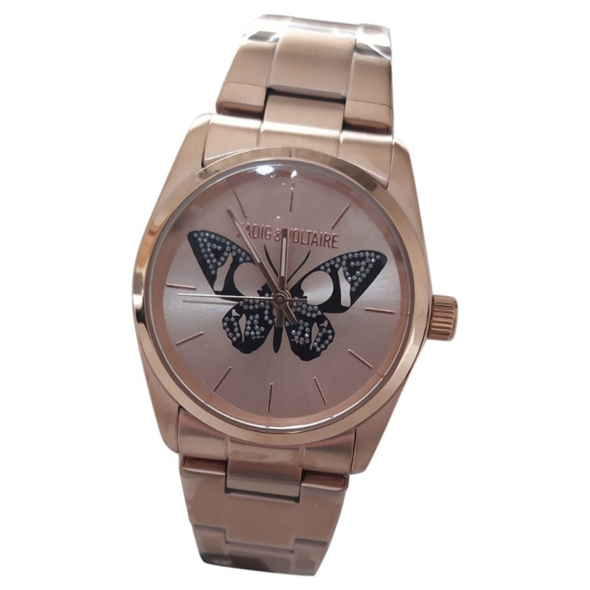 Zadig & Voltaire Papillon Uhr in  Rosa Stahl