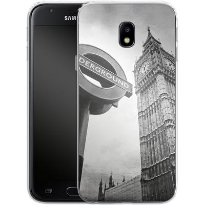 Samsung Galaxy J3 (2017) Silikon Handyhuelle - Big Ben & Underground von Ronya Galka