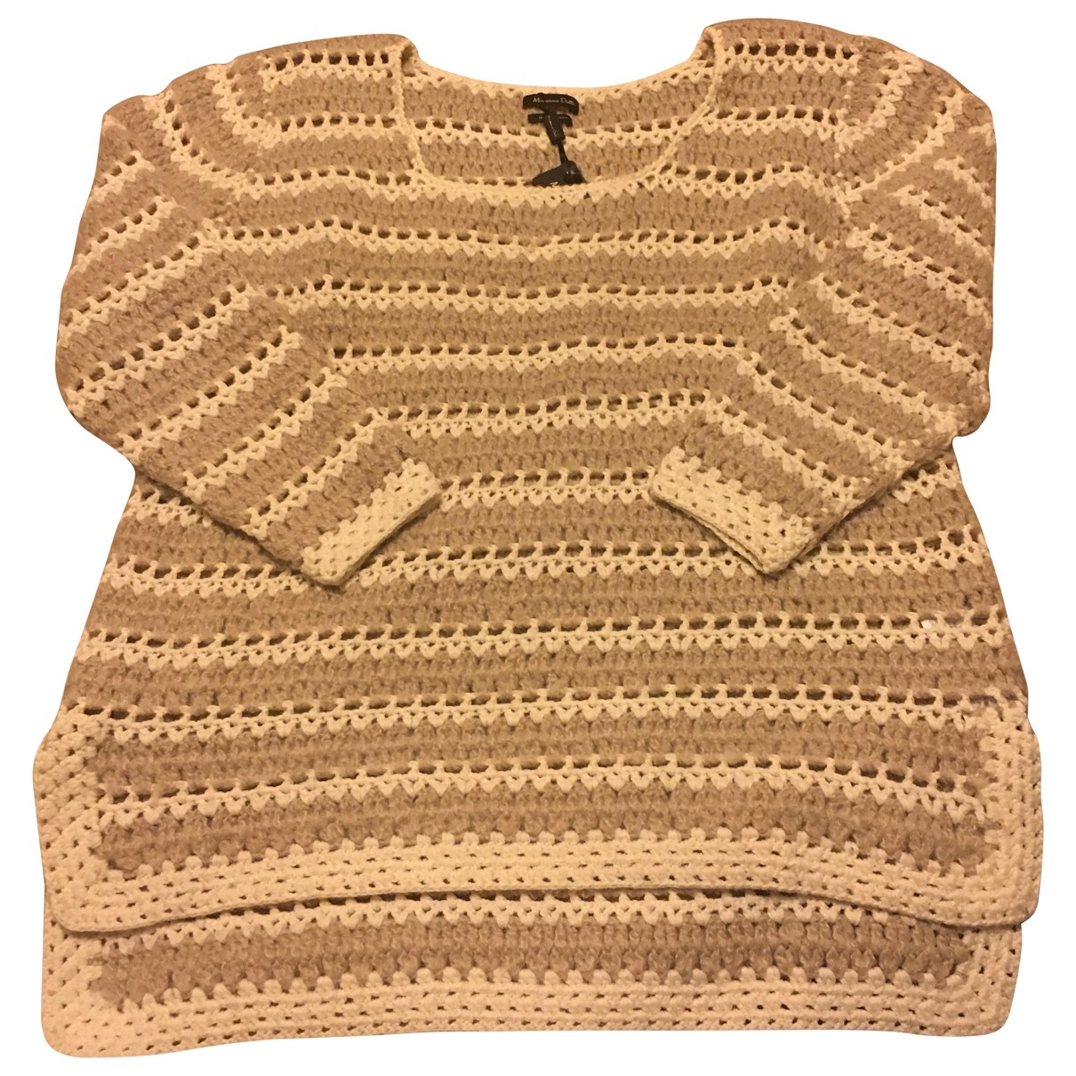 Massimo Dutti \N Pullover in  Beige Wolle