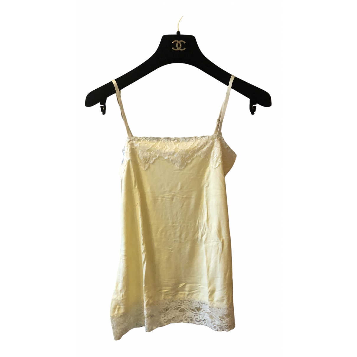 Non Signé / Unsigned \N Yellow Cotton  top for Women 34 FR