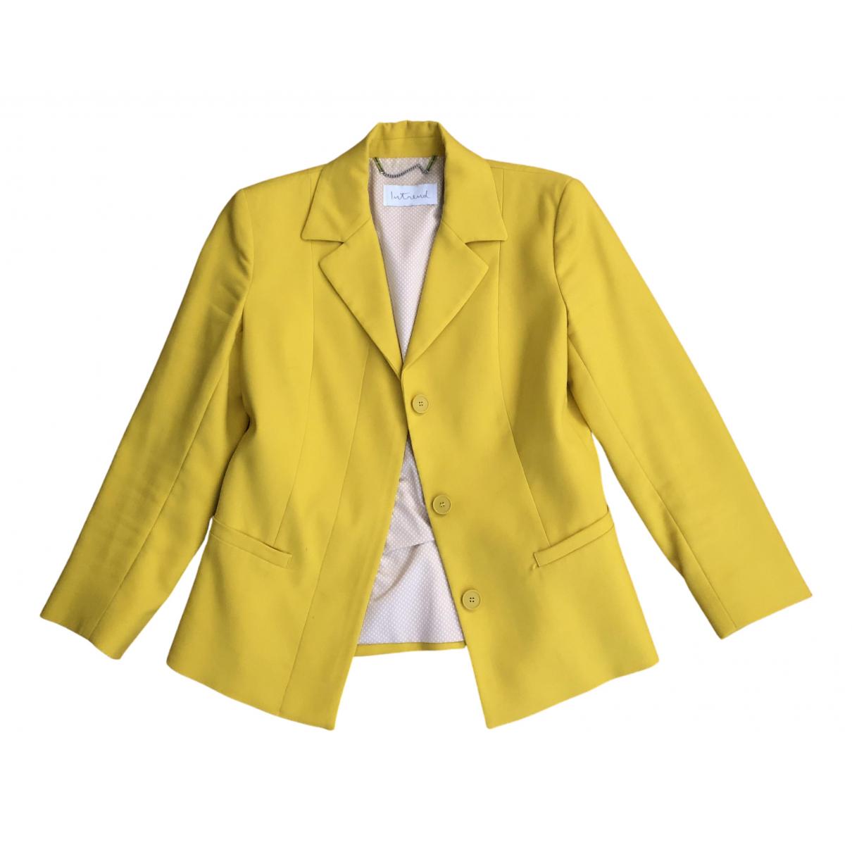 Intrend - Veste   pour femme - jaune