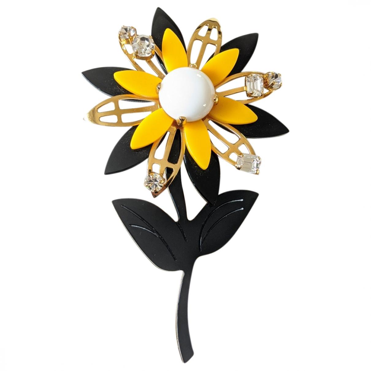 Miu Miu - Broche   pour femme en metal - jaune