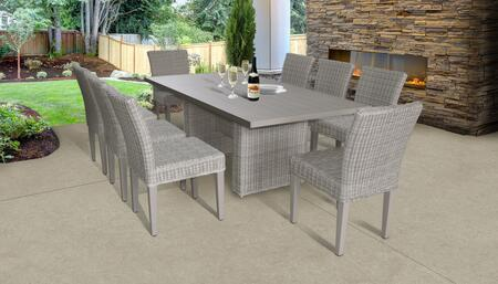 Coast Collection COAST-DTREC-KIT-8 Patio Dining Set With 1 Table  8 Side Chairs - No
