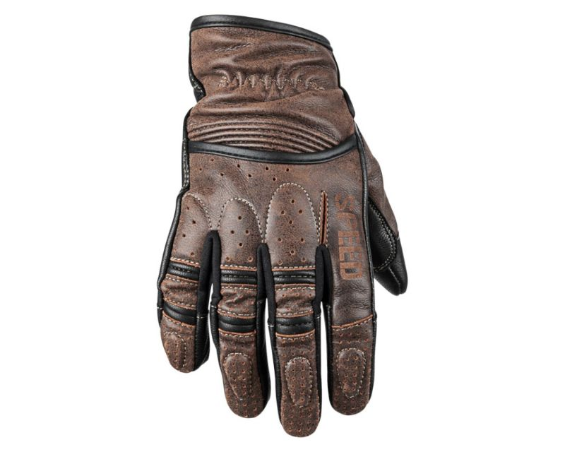 Speed and Strength 878623 Rust And Redemption Leather Gloves Brown LG