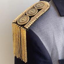1 Paar Schulterklappen mit Metall Quasten Dekor