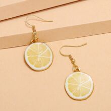 Lemon Slices Drop Earrings