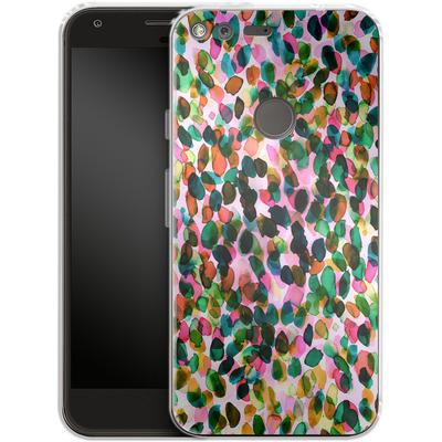 Google Pixel XL Silikon Handyhuelle - Rainbow Drizzle von Amy Sia