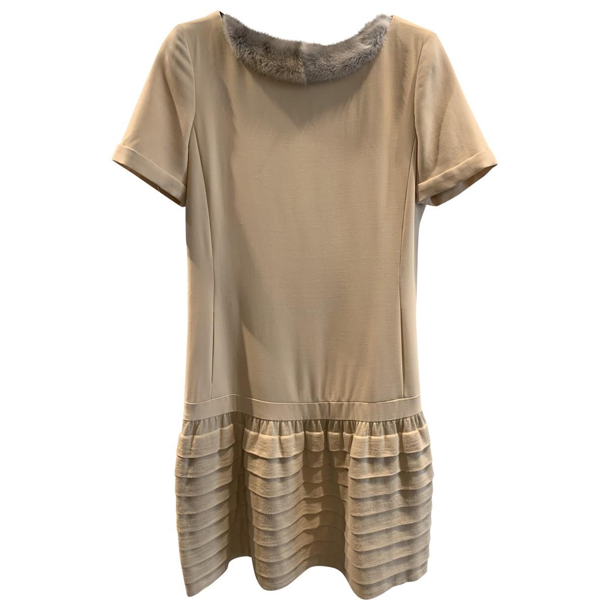 Fendi - Robe   pour femme en laine - beige