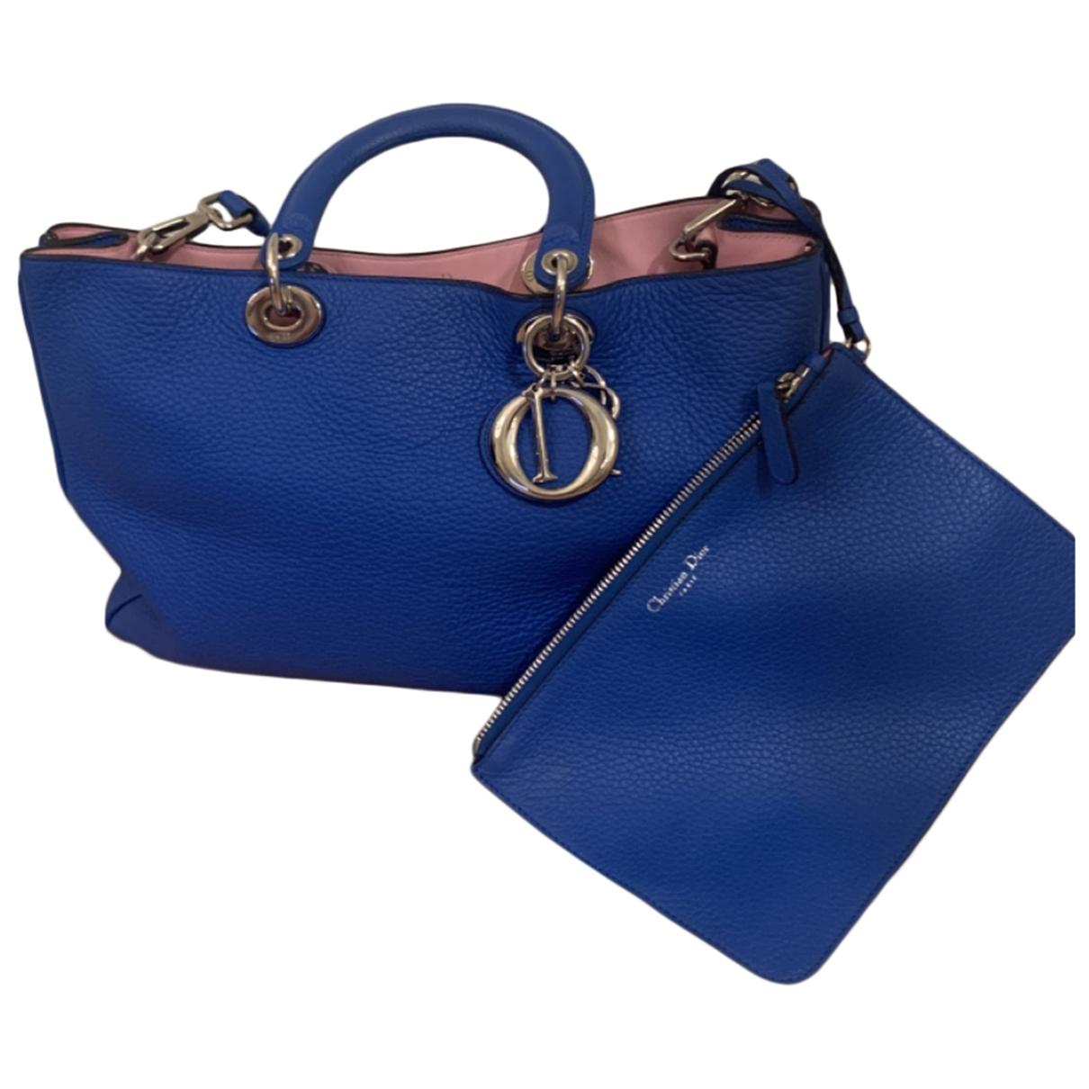 Dior Diorissimo Blue Leather handbag for Women \N