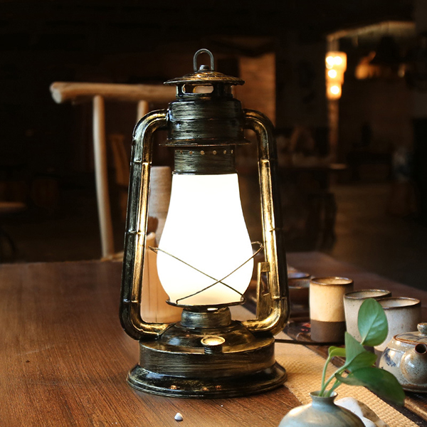 Black Classic Iron Home Decorative table Lamp