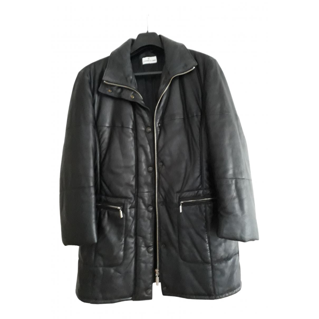 Cerruti - Manteau   pour femme en cuir - noir