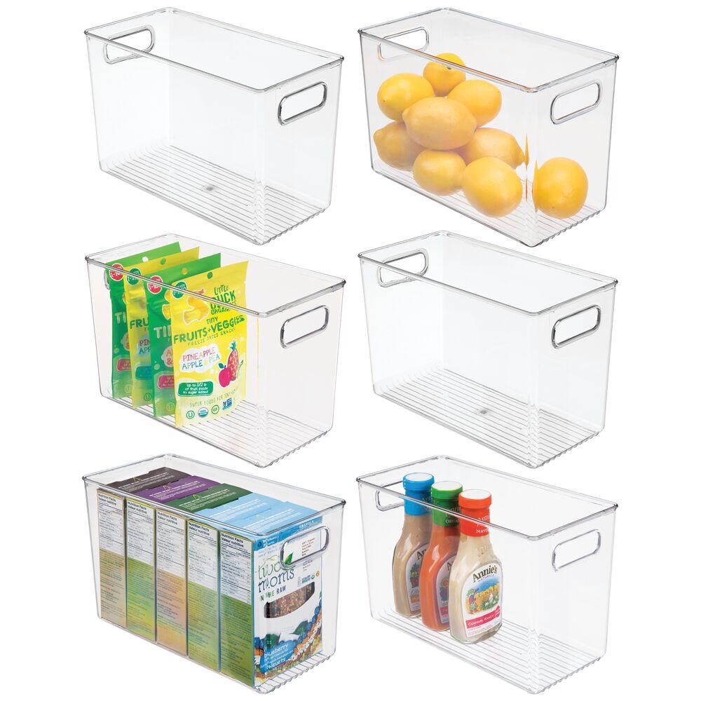 mDesign Plastic Kitchen Pantry Food Storage Organizer Bin - 12