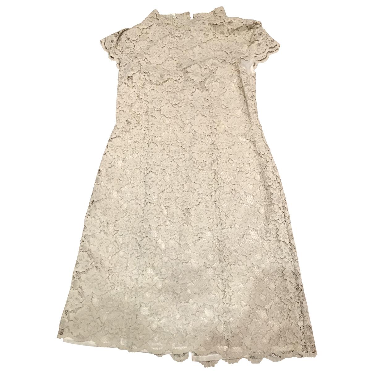 Blumarine \N Kleid in  Beige Baumwolle
