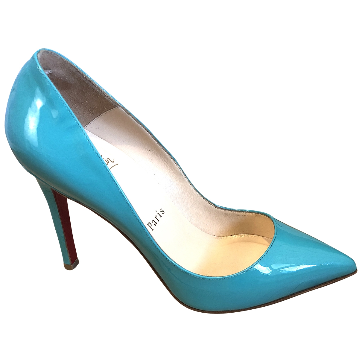 Christian Louboutin Pigalle Turquoise Patent leather Heels for Women 36 EU