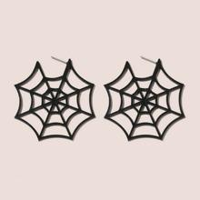 Ohrstecker mit Halloween Spinnennetz Design