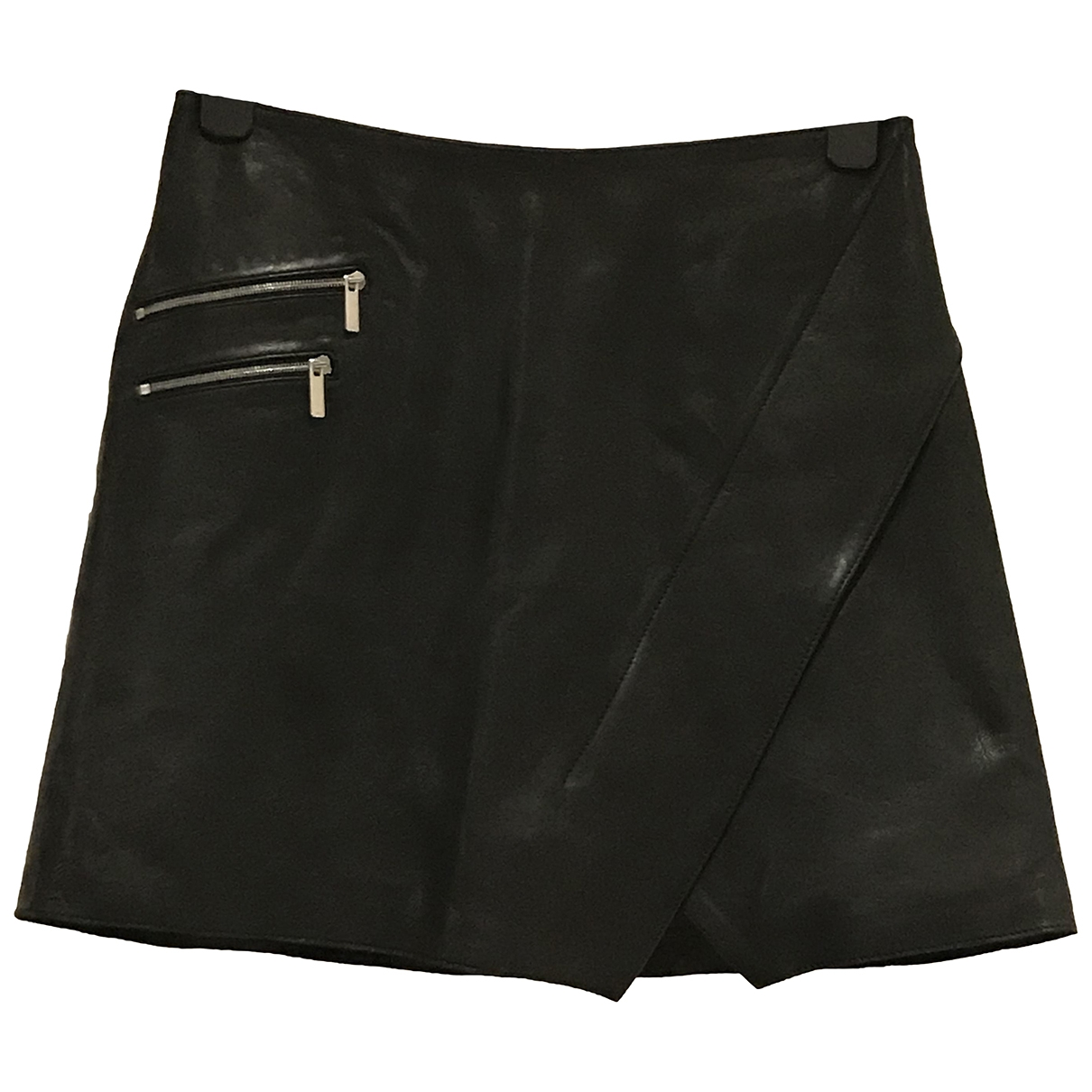 Karen Millen - Jupe   pour femme en cuir - noir