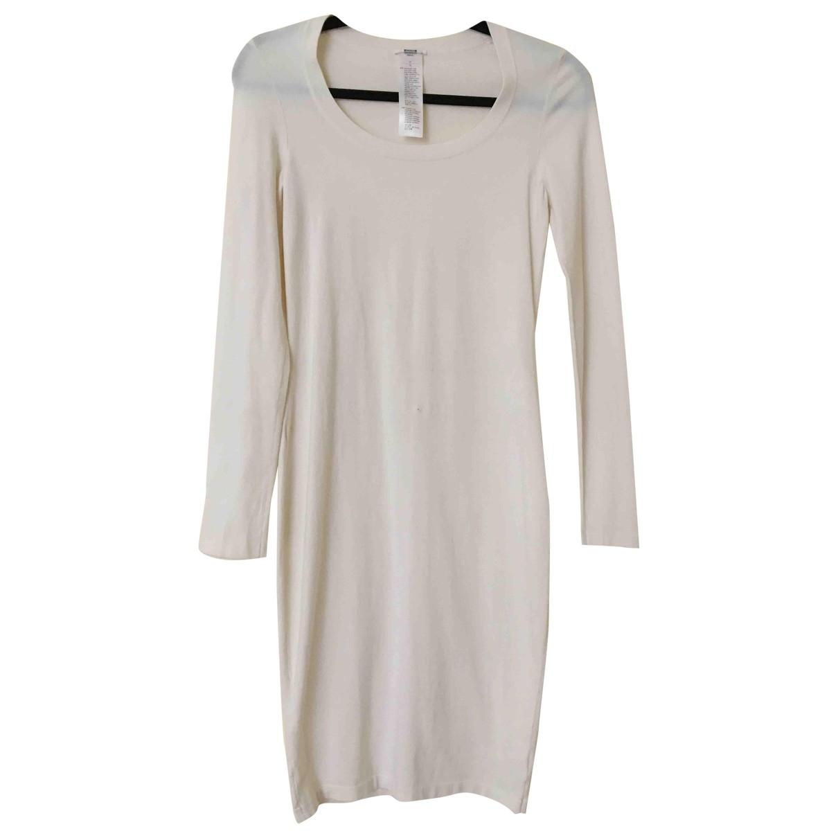 Wolford - Robe   pour femme en laine - ecru
