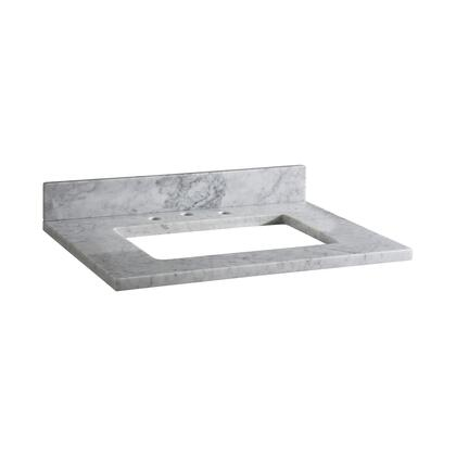 MAUT25RWT Stone Top - 25-inch for Rectangular Undermount Sink  in White Carrara