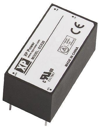 XP Power , 20W AC-DC Converter, 48V dc, Encapsulated