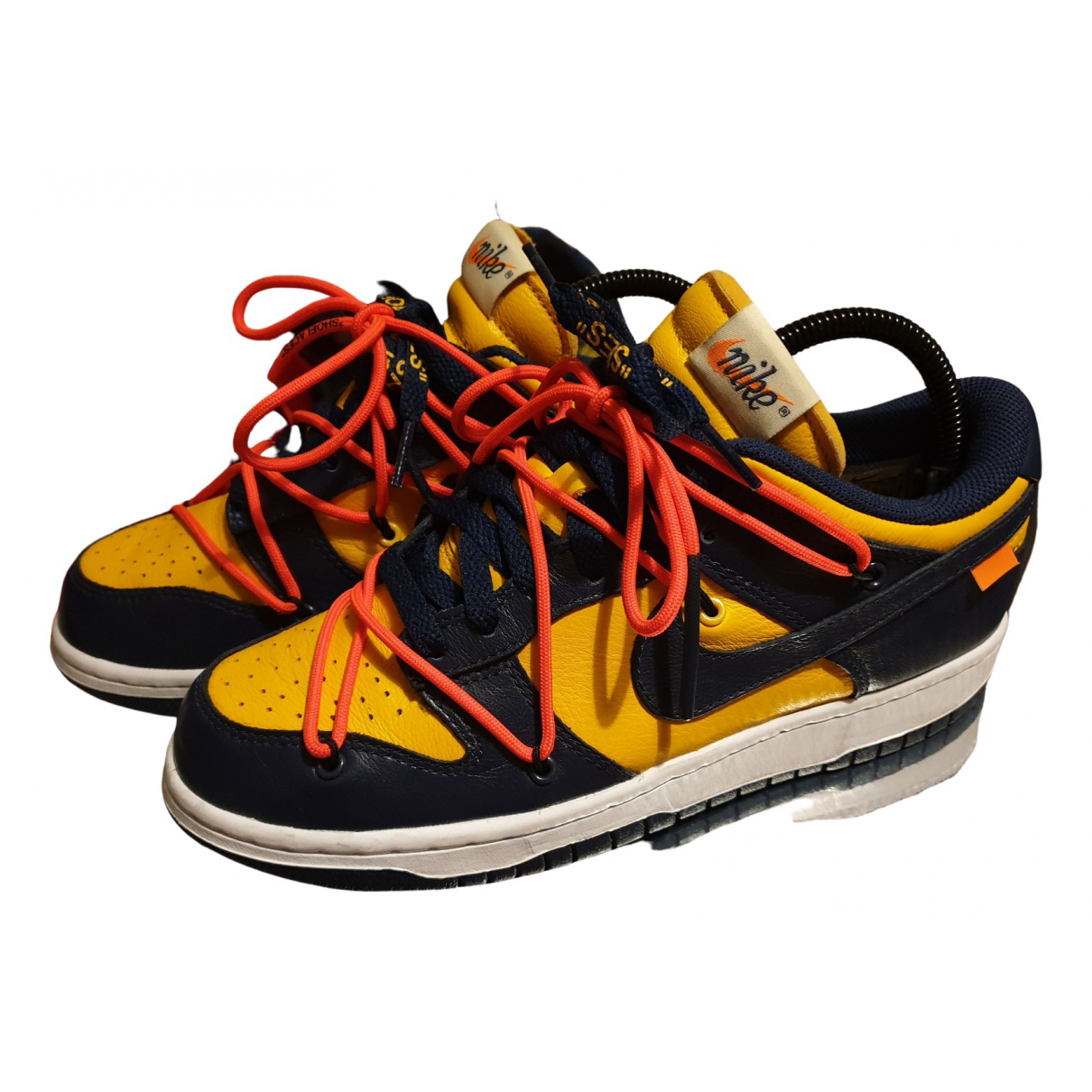 Nike X Off-white Dunk Low Multicolour Leather Trainers for Women 34 EU