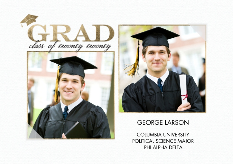 2020 Graduation Announcements 5x7 Cards, Premium Cardstock 120lb, Card & Stationery -2020 Grad Announcement by Tumbalina