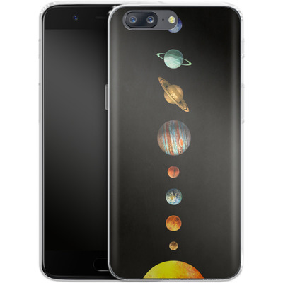 OnePlus 5 Silikon Handyhuelle - Solar System von Terry Fan