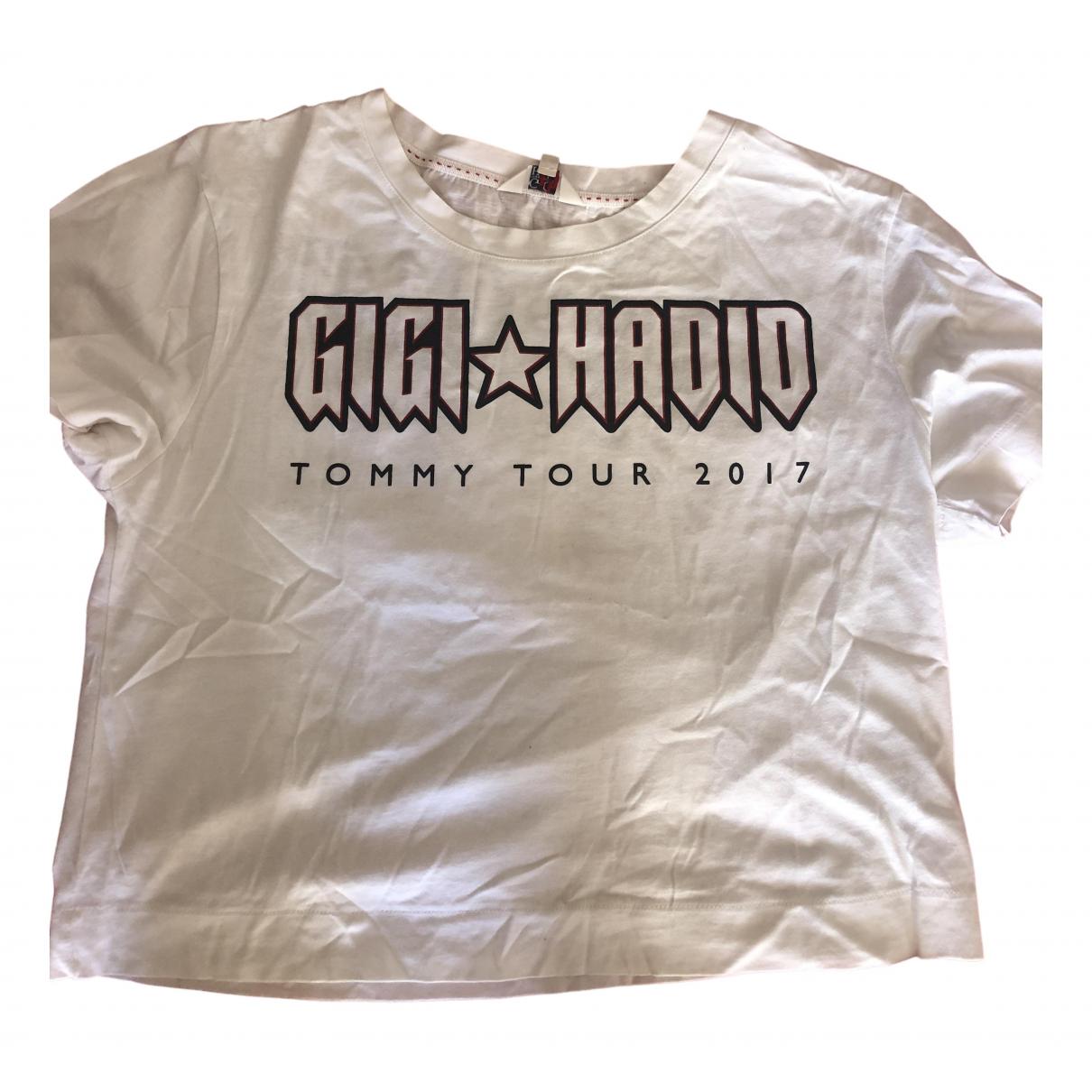 Gigi Hadid X Tommy Hilfiger - Top   pour femme en coton - blanc