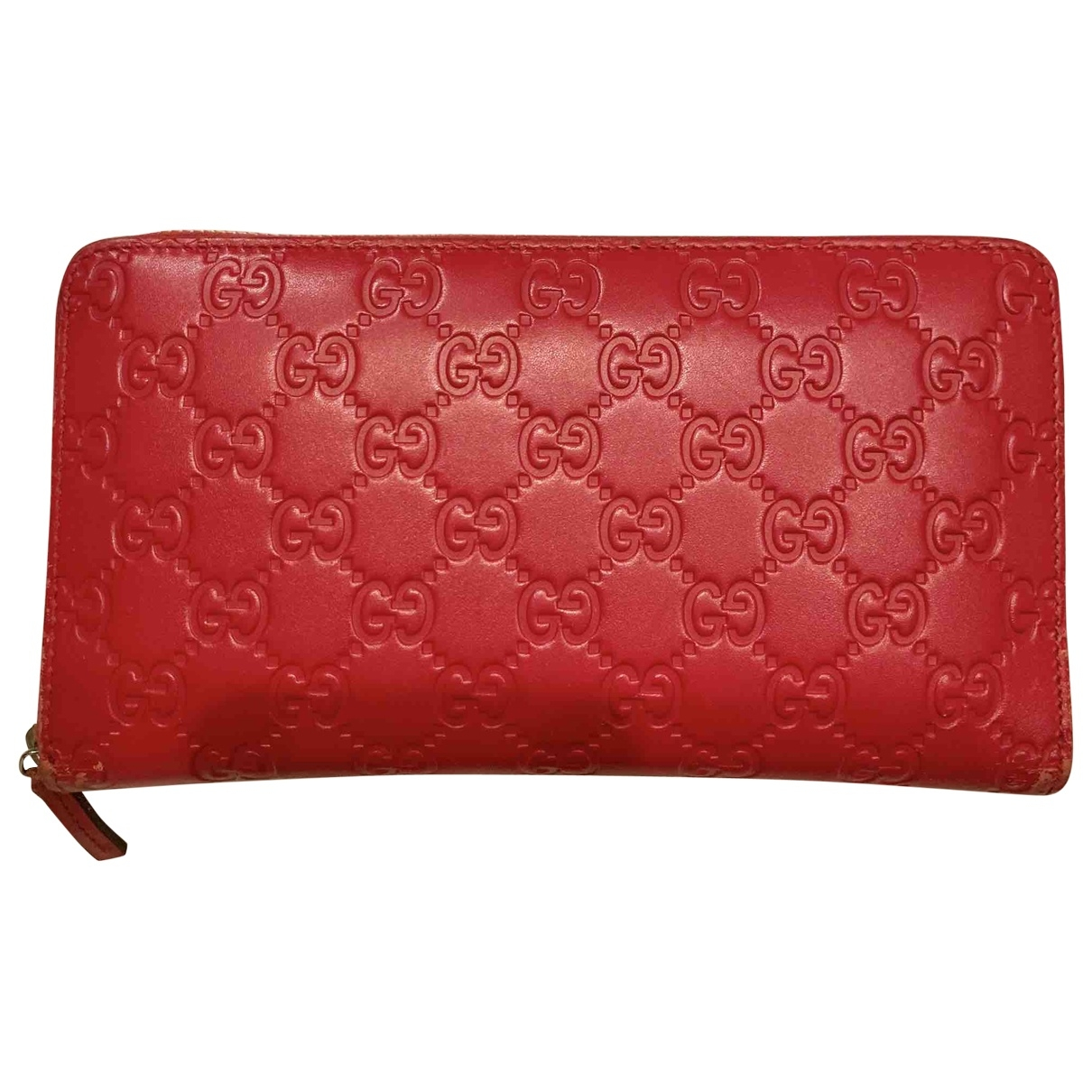 Gucci \N Red Leather wallet for Women \N