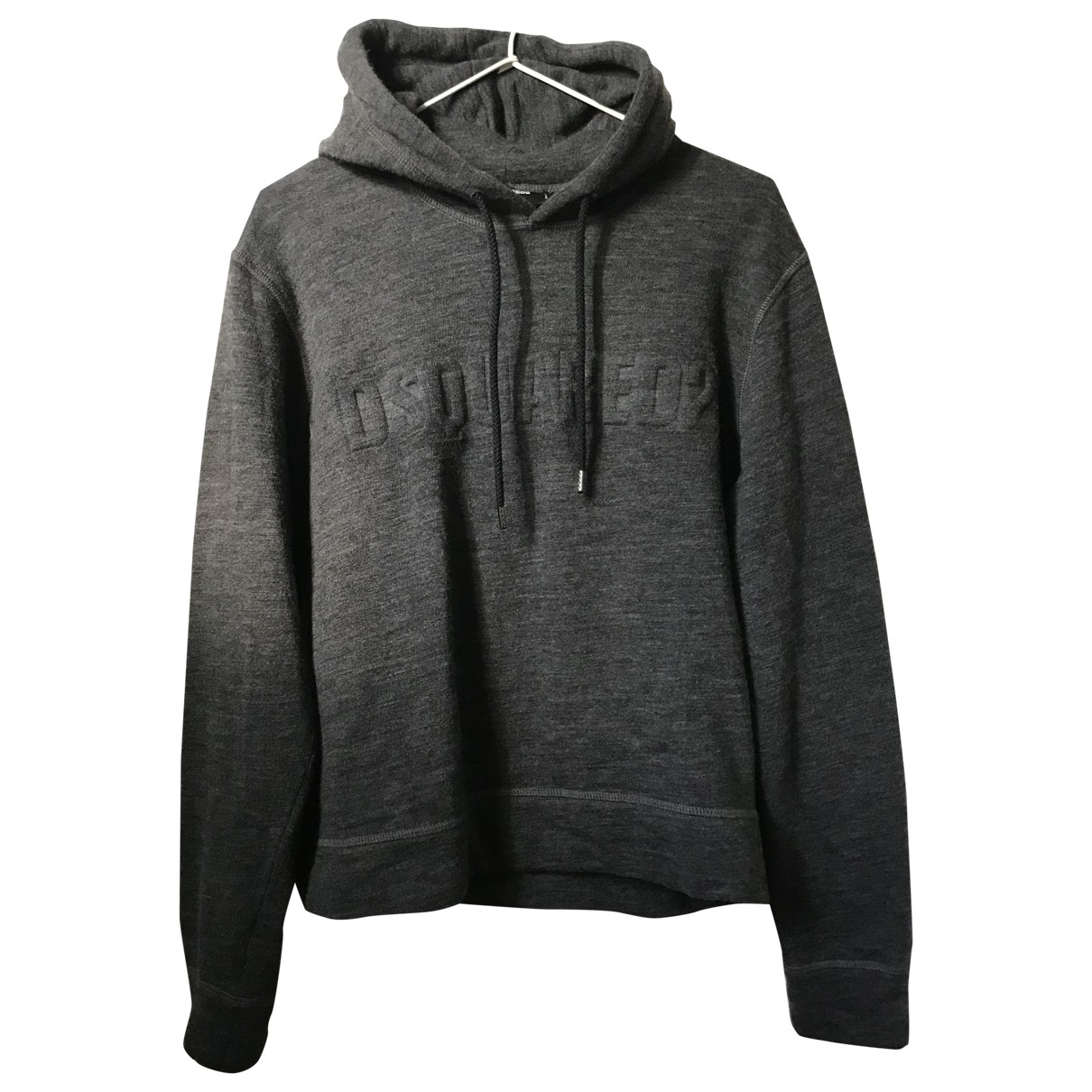 Dsquared2 \N Pullover.Westen.Sweatshirts  in  Anthrazit Wolle