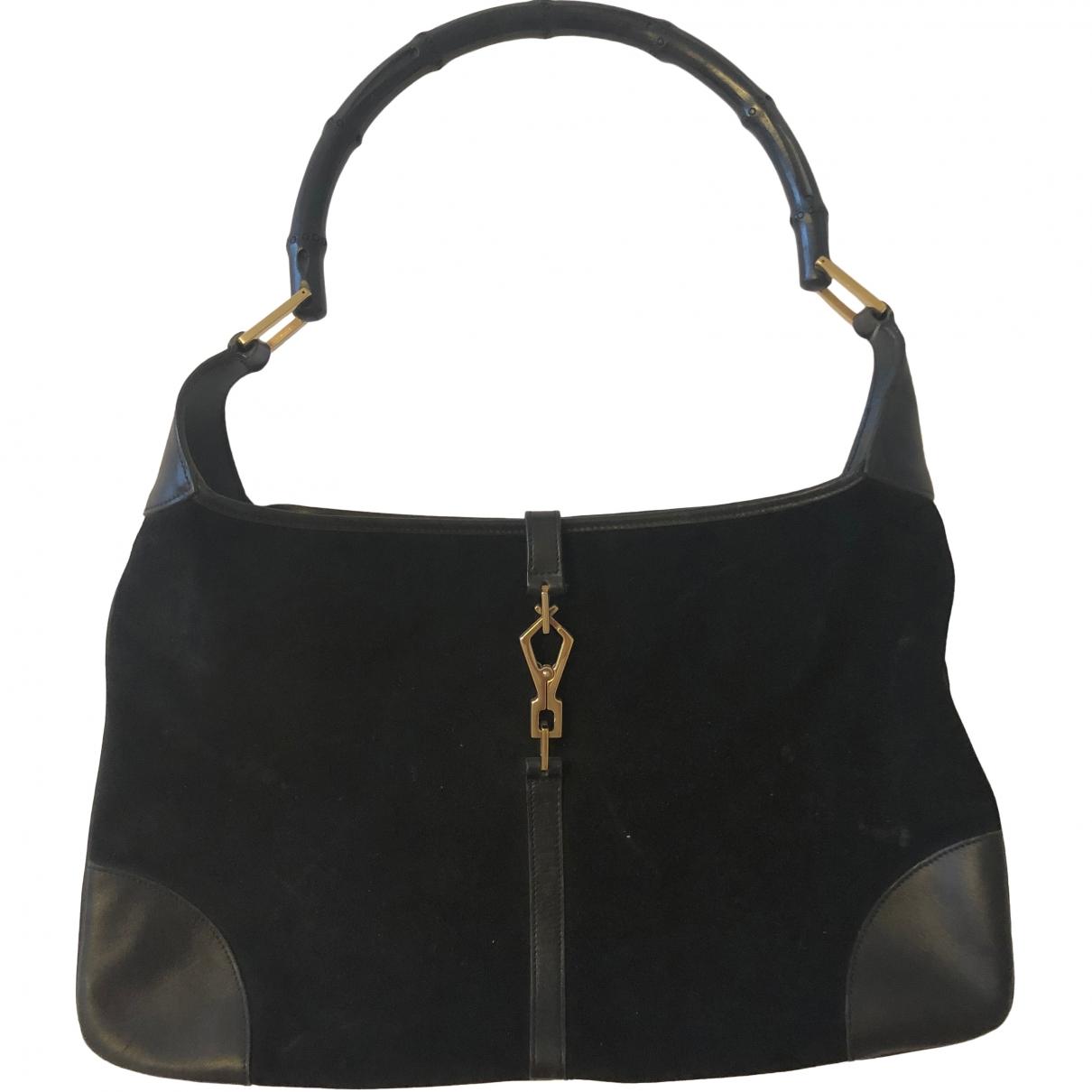 Gucci Jackie Vintage  Handtasche in  Schwarz Samt