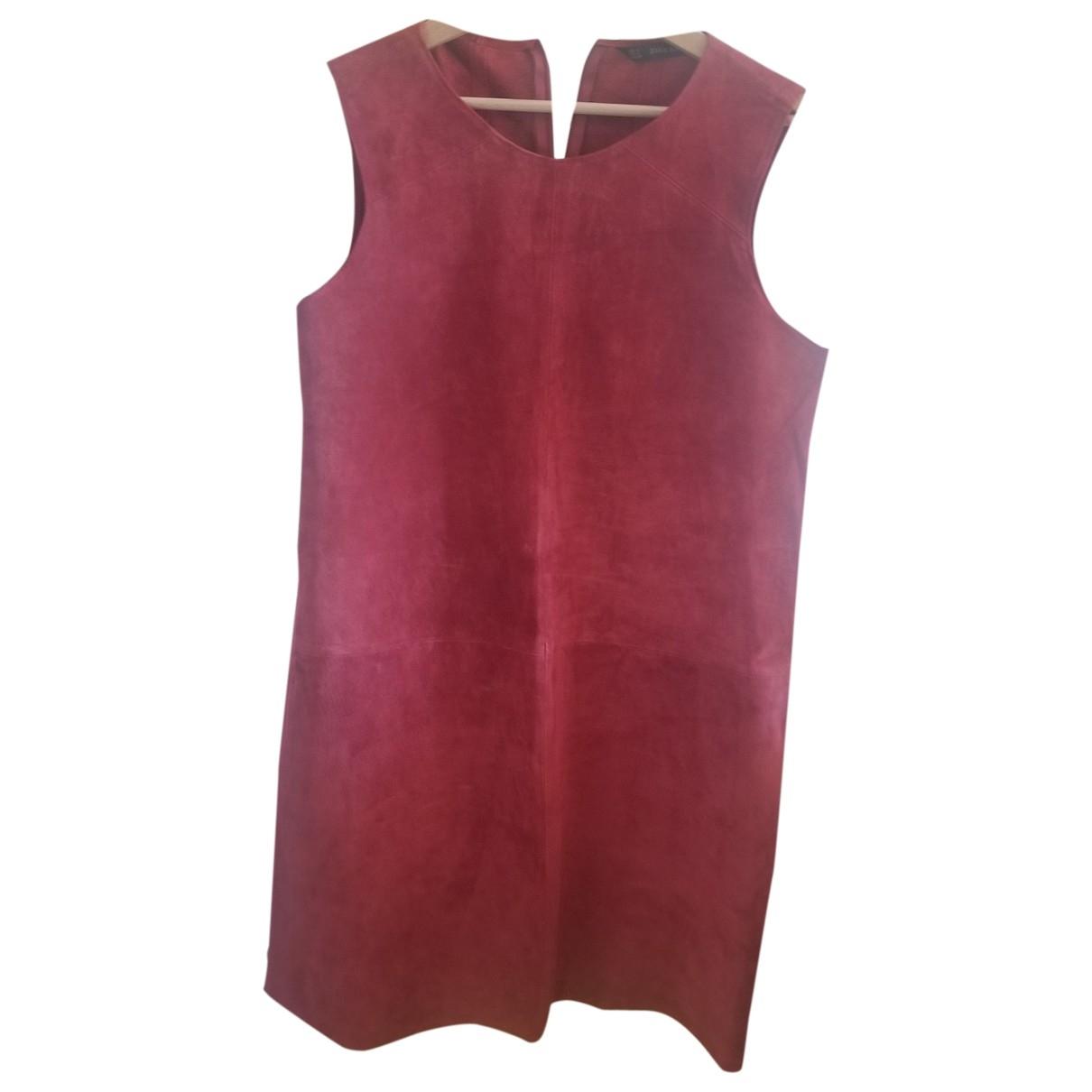 Zara \N Kleid in  Rot Leder