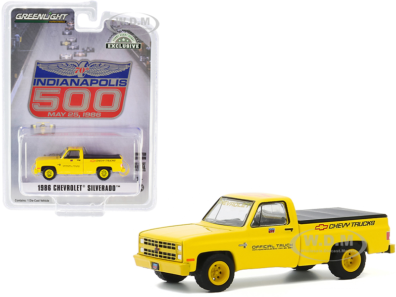 1986 Chevrolet Silverado Official Pickup Truck with Bed Cover Yellow