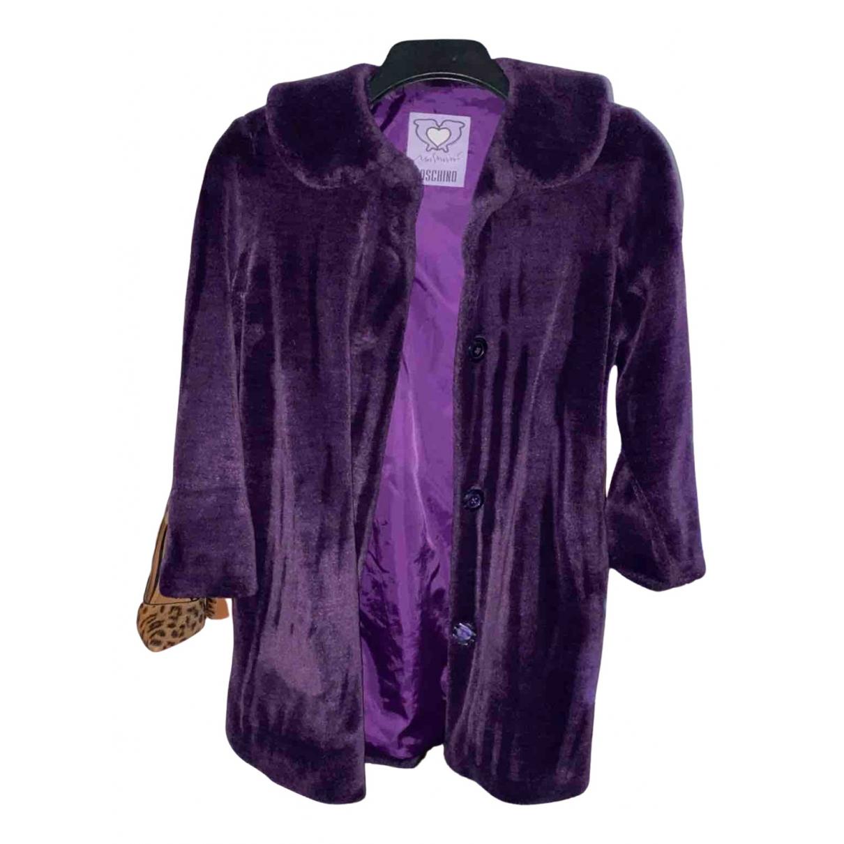 Moschino N Burgundy Faux fur jacket & coat for Kids 12 years - XS UK