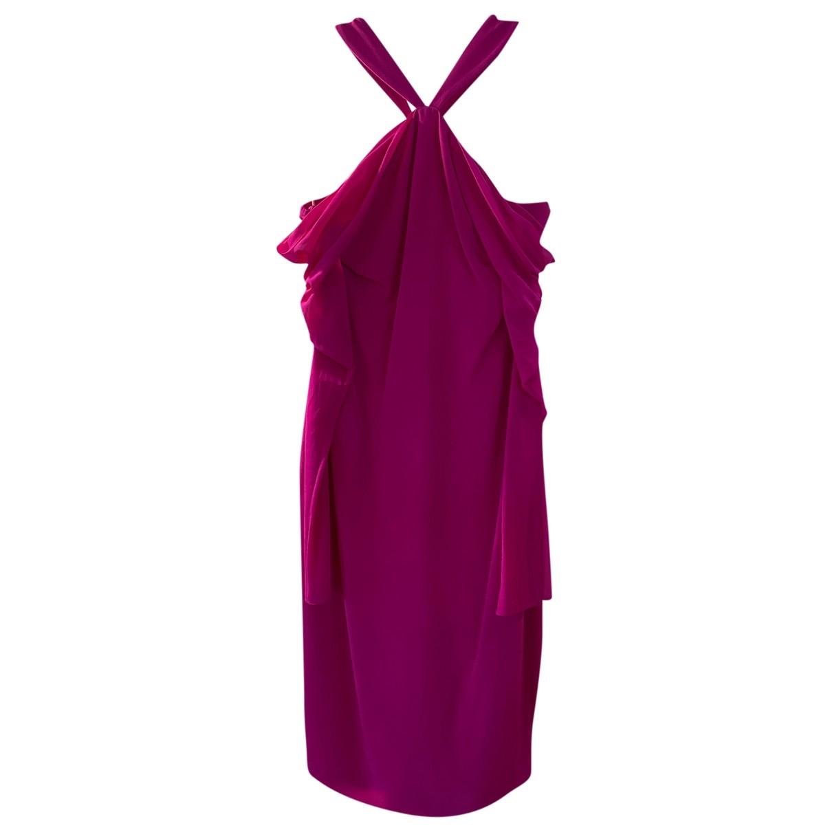 Cushnie Et Ochs \N Pink Silk dress for Women 6 US