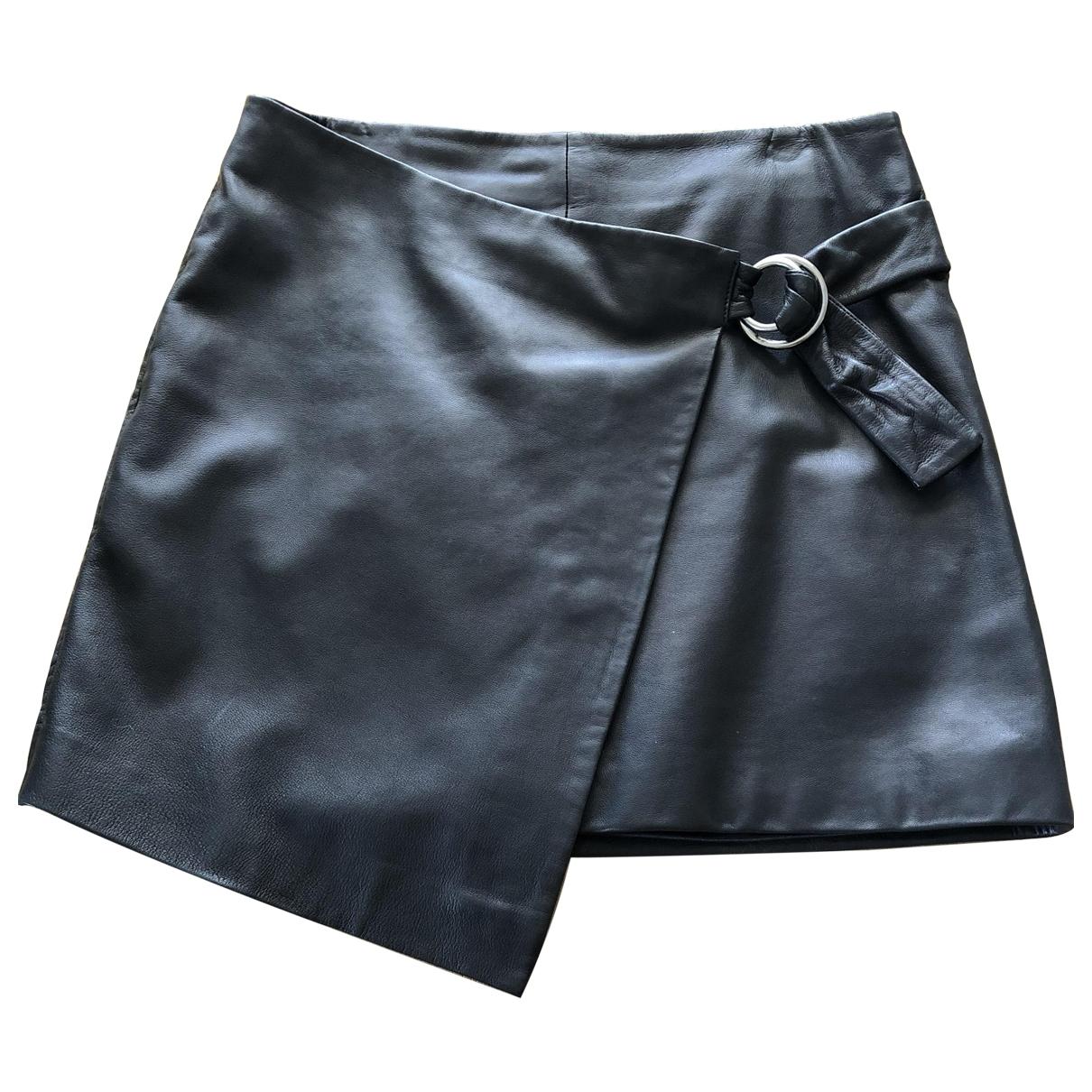 Ba&sh - Jupe   pour femme en cuir - noir