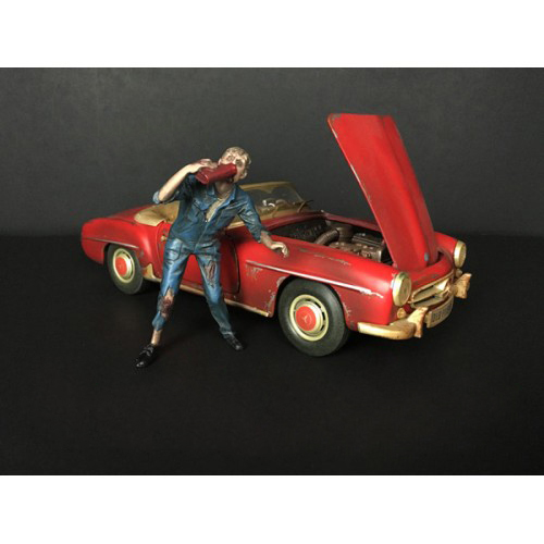 Zombie Mechanic Figurine III for 1/18 Scale Models by American Diorama